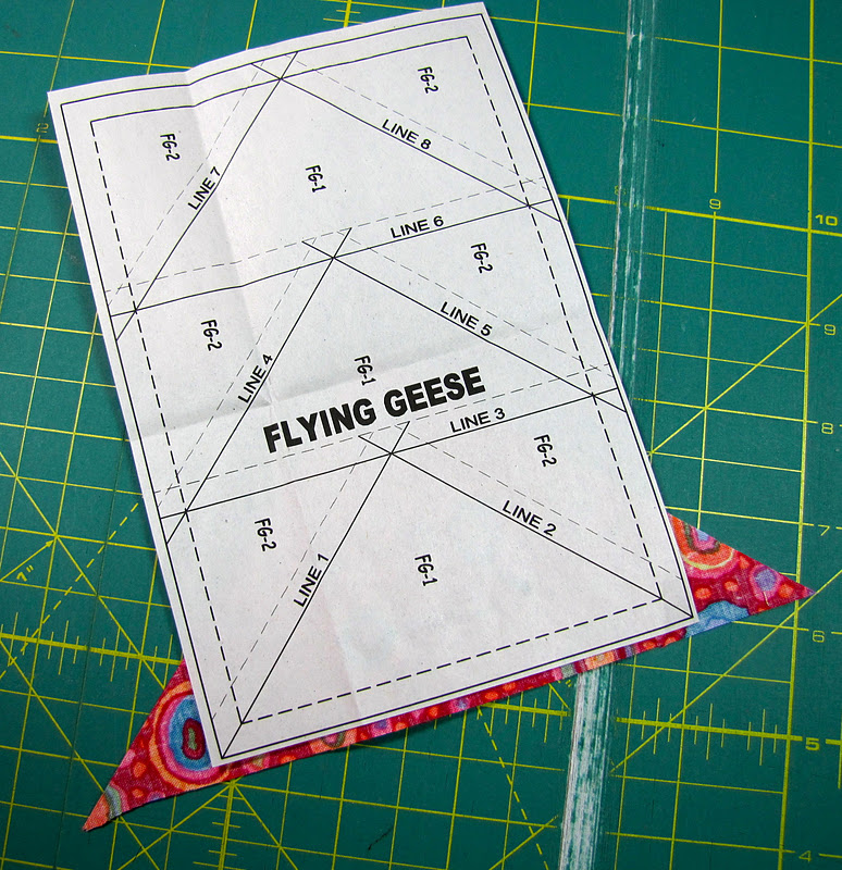Paper Piecing Tutorial : paper pieced flying geese quilt patterns - Adamdwight.com