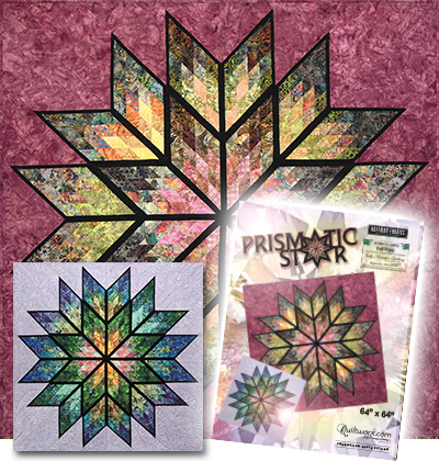 Prismatic Star Quilt and Cover Sheet