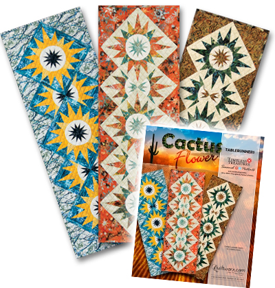 Cactus Flower Table Runner 2015