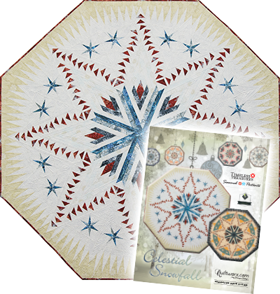 Celestial Snowfall Tree Skirt in Seasonal Portraits