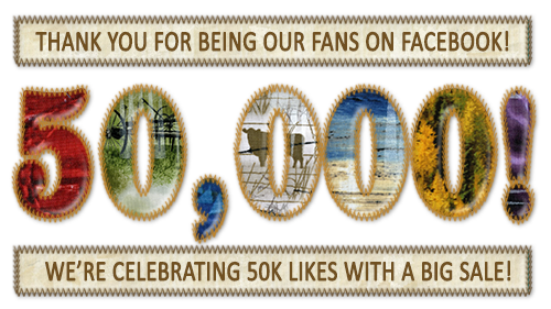 "We've reached 50,000 Facebook ""Likes"" and we're celebrating with a big sale!"