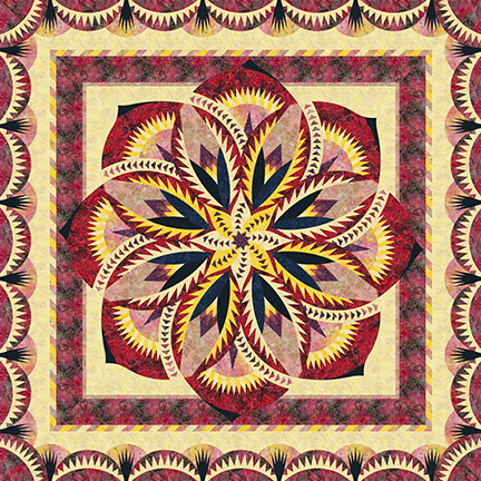 Queen Size Passion Fruit for Cover ~ Quiltworx & Laurie Thomas Digitize SMALL