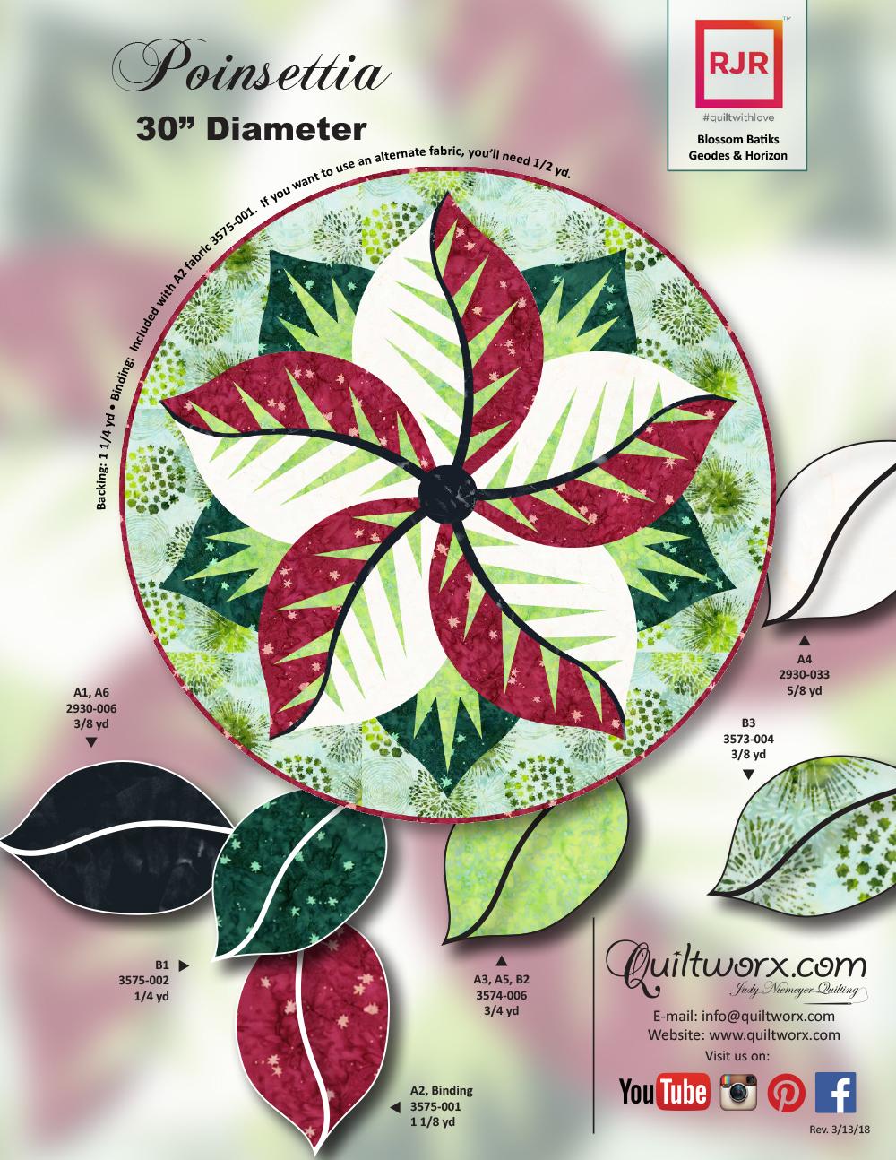 Poinsettia-RJR-(Green)-Blossom-Batiks-1pg-KS