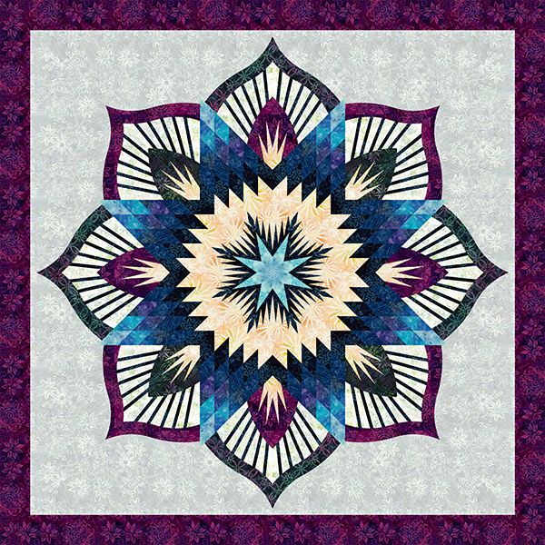 FROZEN FOUNTAIN QUILTQUILTING PATTERN Foundation Papers Included From Quiltworx