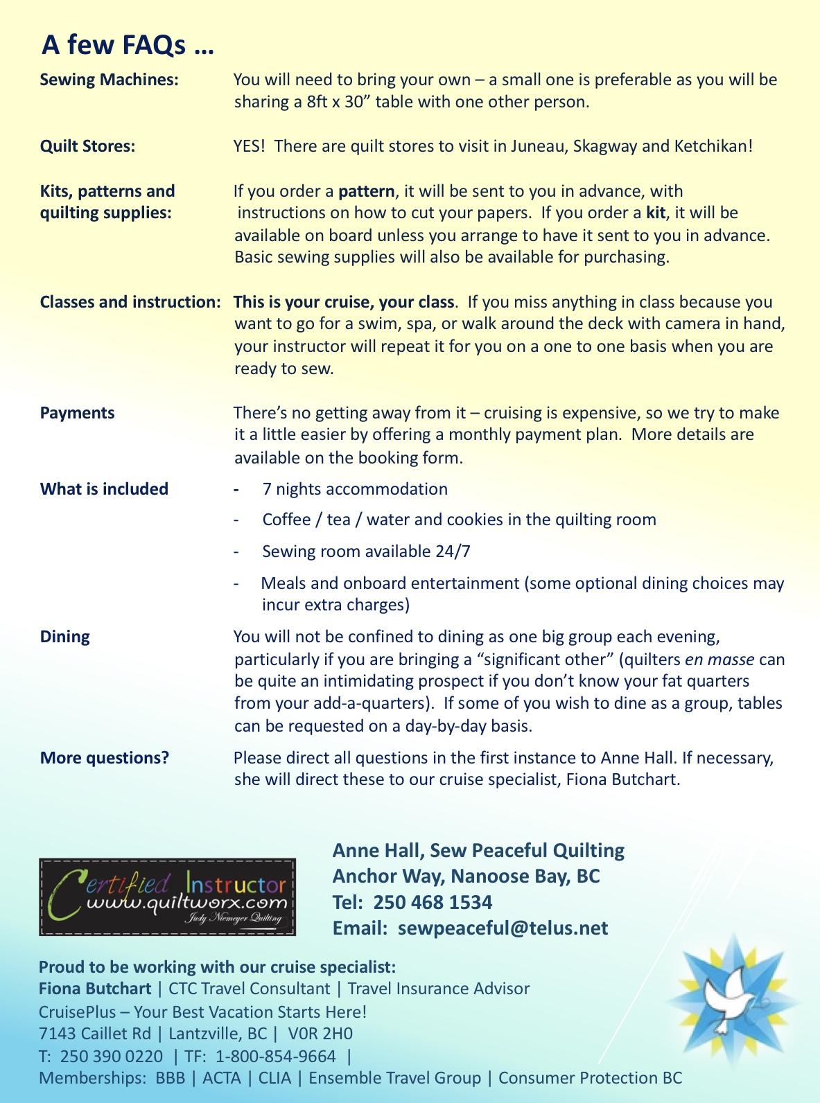 Alaska Cruise flyer May 2019 page 3