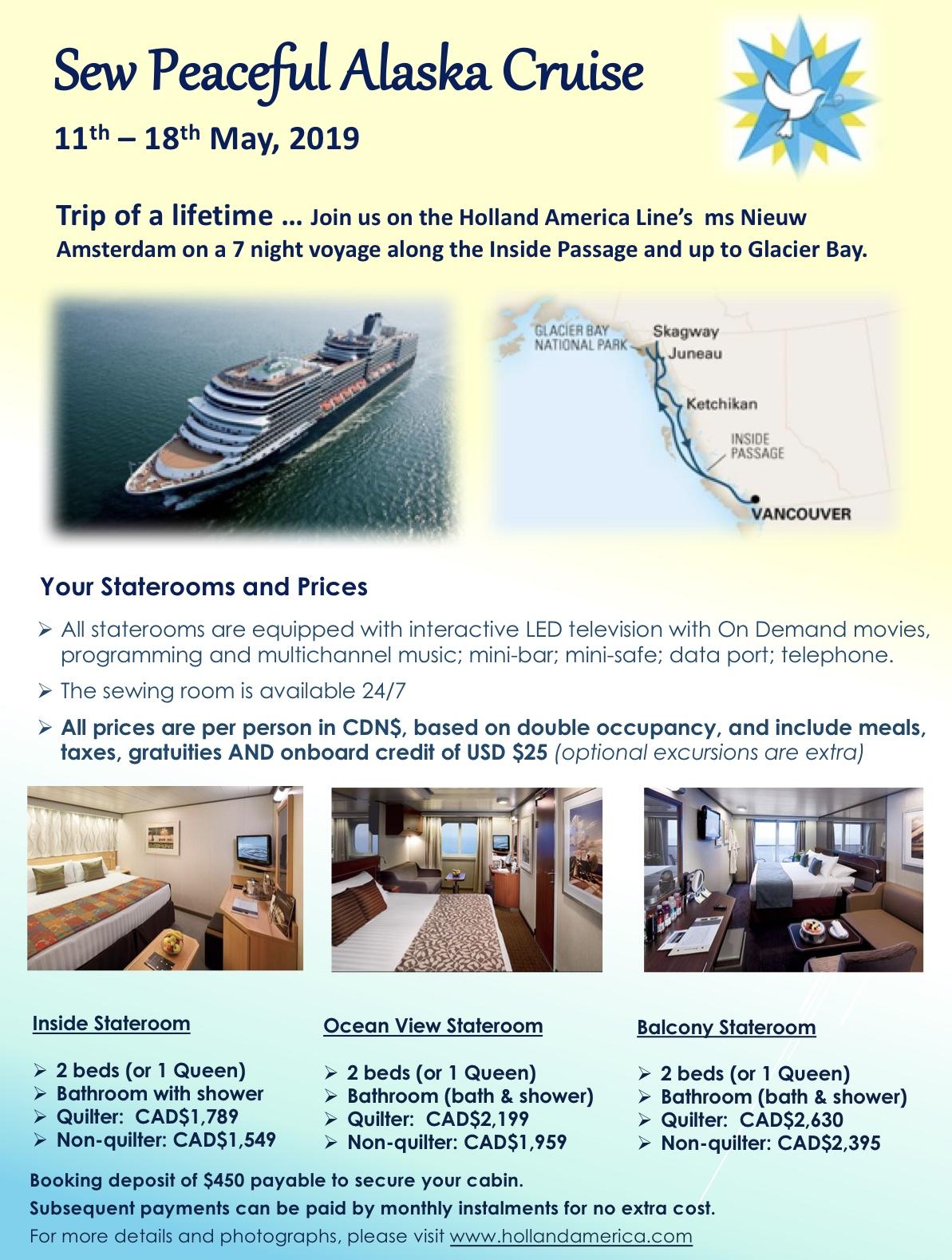 Alaska Cruise flyer May 2019