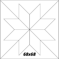 "68""x68"""