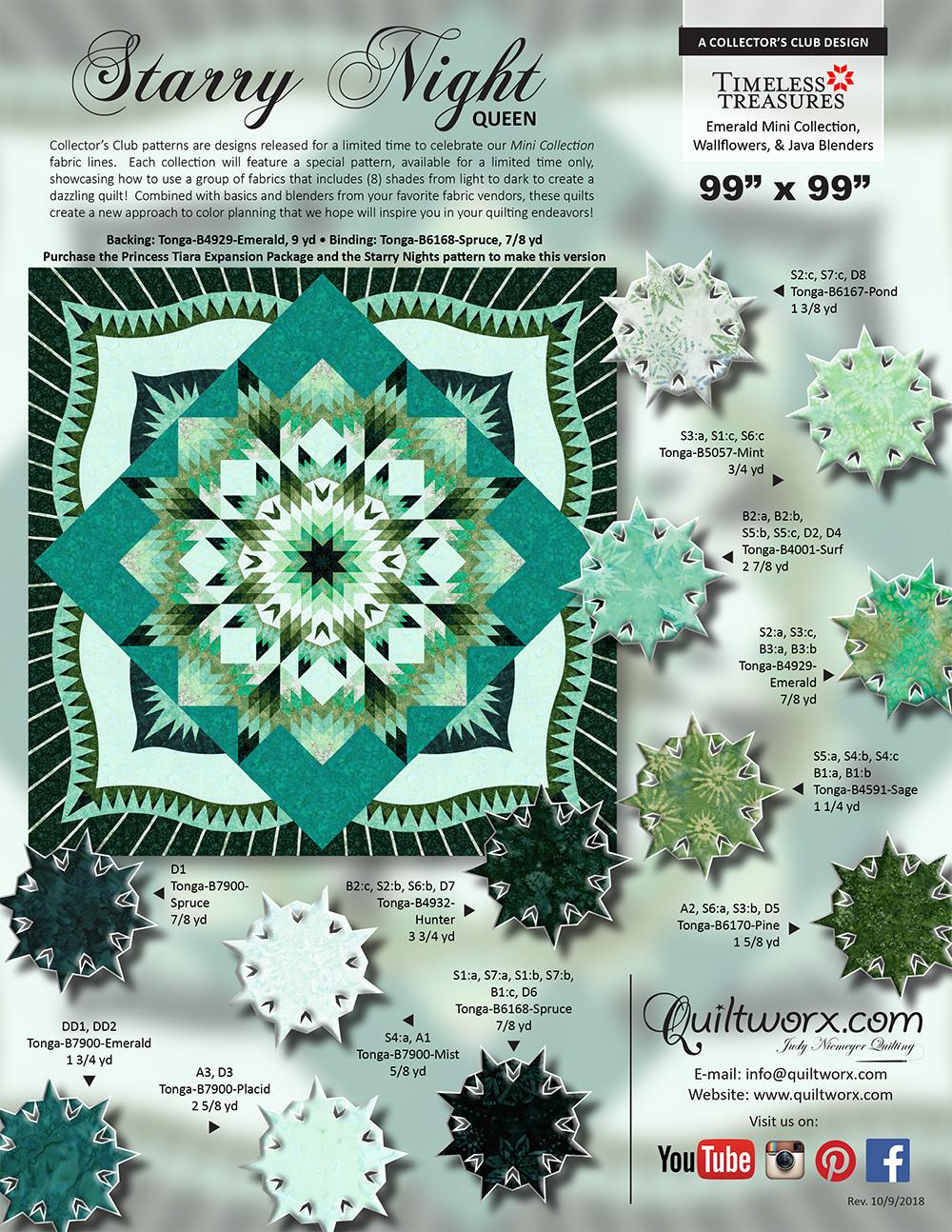 Starry Night Queen Emerald Wallflowers 1pg KS_1000