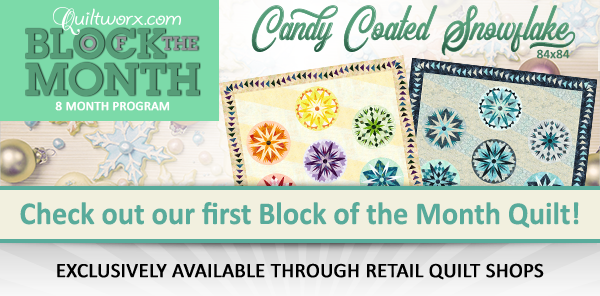 Quiltworx Block of the Month Now Available Through Participating Certified Shops