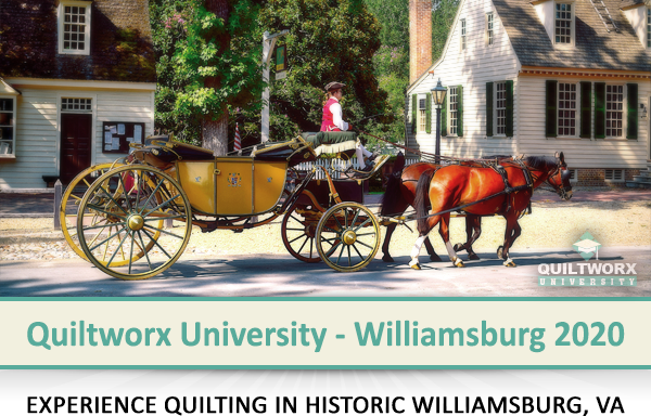 Experience quilting in the Amish Country...Join us at Yoder's in September 2019 for Quiltworx University!