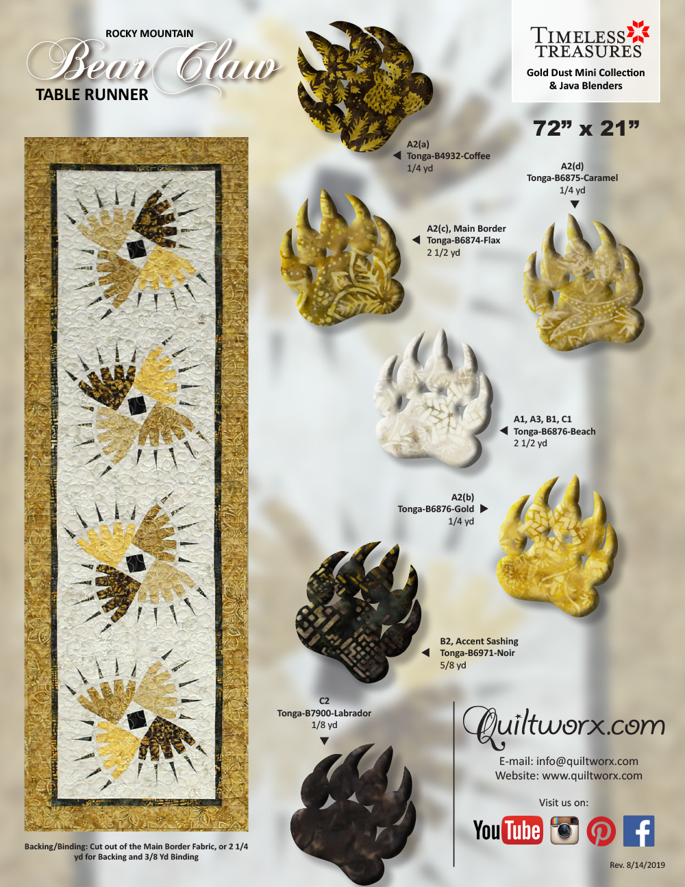 RMBC-Table-Runner-Gold-Dust-1pg-KS
