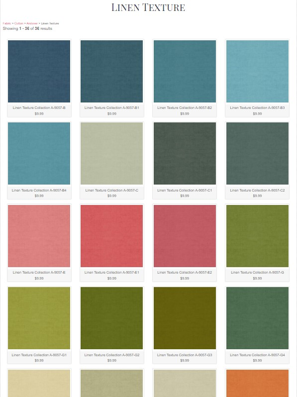 Andover Linen Texture Swatches