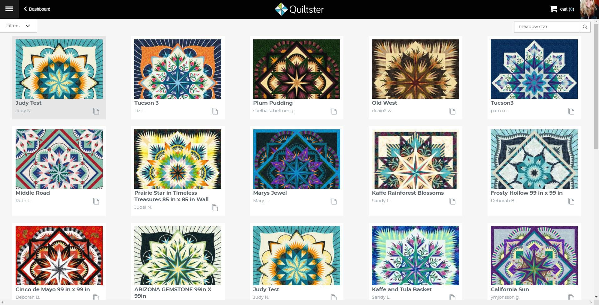 Meadow Star Mixer Quilt Designs