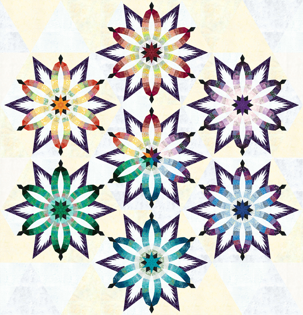 Diamond Wedding Star Taffy • 1 Left • 96x96 $315.00 Fabric Only
