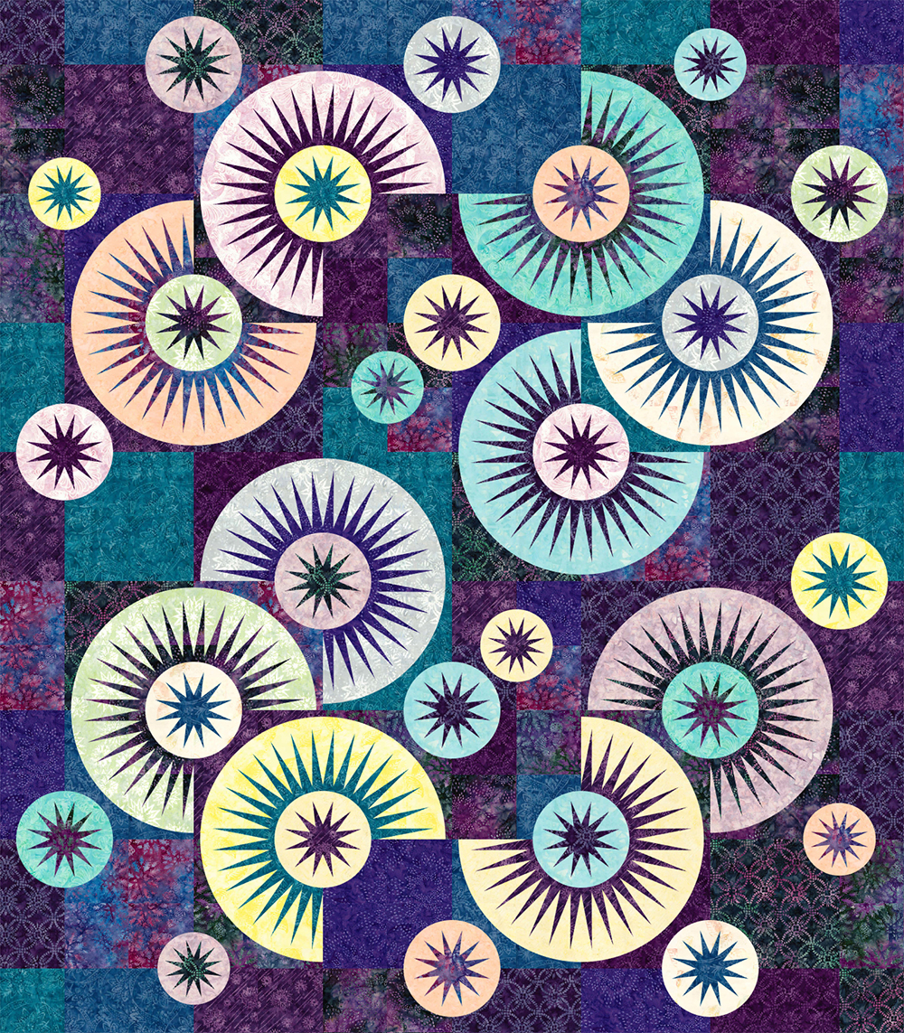 Raindrops in Tonga Batiks • 1 Left • 70x80 $205.00 Fabric Only $240.00 Kit with Pattern