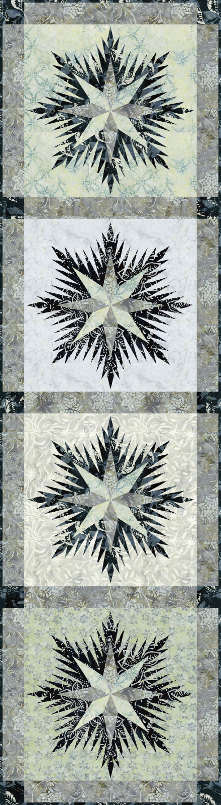 Winter Wonderland Table Runner • 17x49 $95.00 Fabric Only Sale: $101.50 Kit with Pattern