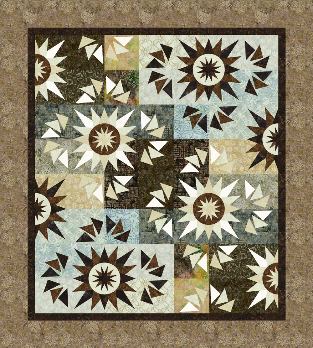 Harvest Moon Gunpowder 54x60 $154.00 Fabric Only $180.00 Kit with Pattern