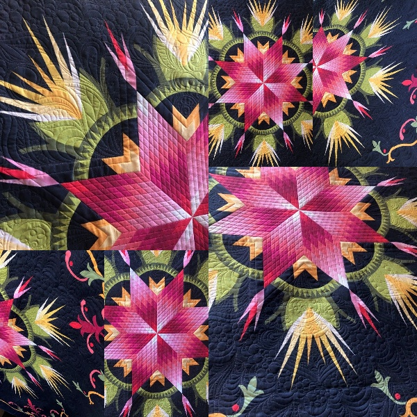 Blooming Lily with Graffiti Quilting by Karlee Porter