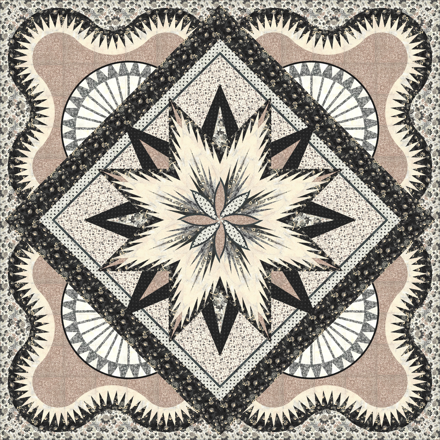 Feathered Starfish 57x57