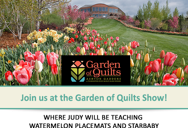 Join us at the Garden of Quilts Show