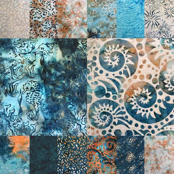 Batik Textile Ocean Breeze