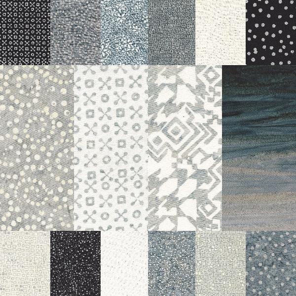 Batik Textile Shades of Grey