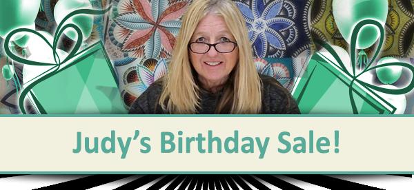 Judy's Birthday Sale